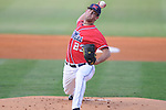 Mississippi's Eric Callender pitches vs. UT-Martin college baseball at Oxford-University Stadium in Oxford, Miss. on Wednesday, April 28, 2010.