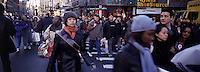 """Out takes from """"The Harvard Design School Guide to Shopping"""" published by Tashen. Crowds of shoppers on thanksgiving weekend on 34th st. NY 2000"""