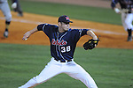 Mississippi's Brett Huber pitches vs. Murray State at Oxford-University Stadium in Oxford, Miss. on Tuesday, April 27, 2010. Ole MIss won 11-10 in 10 innings after blowing a 10-1 lead.