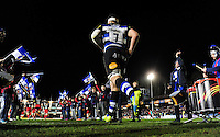Francois Louw and the rest of the Bath Rugby team run out onto the field. Aviva Premiership match, between Bath Rugby and Saracens on April 1, 2016 at the Recreation Ground in Bath, England. Photo by: Patrick Khachfe / Onside Images
