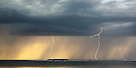 Lightning strikes twice, Autrain, Michigan, Lake Superior