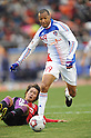 Lucas (FC Tokyo), JANUARY 1, 2012 - Football / Soccer : Lucas of FC Tokyo scores his team's fourth goal past Takayuki Fukumura of Kyoto Sanga during the 91st Emperor's Cup final match between Kyoto Sanga F.C. 2-4 F.C.Tokyo at National Stadium in Tokyo, Japan. (Photo by Takahisa Hirano/AFLO)