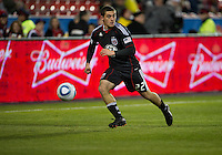 16 April 2011: D.C. United defender Chris Korb #22 in action during an MLS game between D.C. United and the Toronto FC at BMO Field in Toronto, Ontario Canada..D.C. United won 3-0.