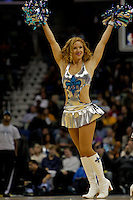 Nov 19, 2009; New Orleans, LA, USA;  A New Orleans Hornets Honeybees dancer performs on the court during a game against the Phoenix Suns at the New Orleans Arena. The Hornets defeated the Suns 110-103. Mandatory Credit: Derick E. Hingle-US PRESSWIRE