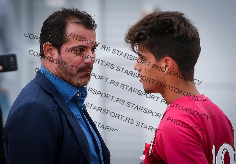 Fudbal Soccer<br /> International Friendly-Prijateljski mec<br /> Srbija U17 v Belorusiaj U17<br /> Stefan Stankovic (R) and Dejan Stankovic<br /> Stara Pazova, 20.09.2016<br /> foto: Srdjan Stevanovic/Starsportphoto &copy;