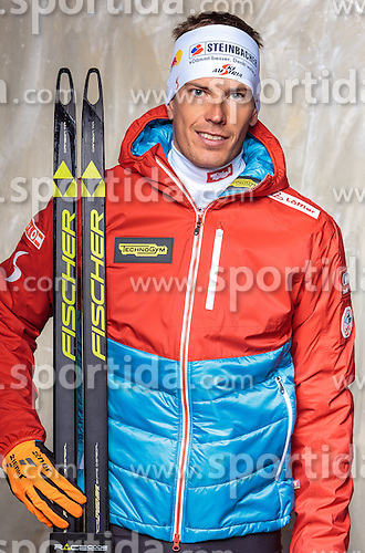 08.10.2016, Olympia Eisstadion, Innsbruck, AUT, OeSV Einkleidung Winterkollektion, Portraits 2016, im Bild Julian Eberhard, Biathlon, Herren // during the Outfitting of the Ski Austria Winter Collection and official Portrait Photoshooting at the Olympia Eisstadion in Innsbruck, Austria on 2016/10/08. EXPA Pictures © 2016, PhotoCredit: EXPA/ JFK