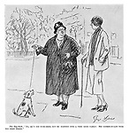 "The Dog-Snob. ""No, he's not pure-bred, but he married into a very good family. His father-in-law took ten first prizes."""