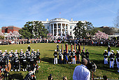 United States President Barack Obama and first lady Michelle Obama welcome Prime Minister David Cameron and his wife, Samantha, to the White House in Washington, D.C. on Wednesday, March 14, 2012..Credit: Ron Sachs / CNP