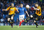 Lewis MacLeod with Alloa duo Jason Marr and Ben Gordon.