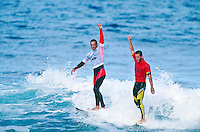 Kelly Slater (USA) defeated Martin Potter (GB) in the final of the 1994 Rip Curl Pro at Bells beach, Torquay, Victoria, Australia. Photo: joliphotos.com