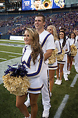 Sept 01, 2012:  Washington cheerleader Kayla Woods against San Diego State.  Washington defeated San Diego State 21-12 at CenturyLink Field in Seattle, Washington...