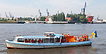 """130727: """"Hamburg 471,02 km"""" Ankunft im Hamburger Hafen"""