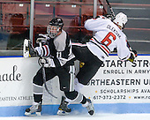 Tim Schaller (Providence - 11), Jamie Oleksiak (Northeastern - 6) - The Northeastern University Huskies defeated the visiting Providence College Friars 5-0 on Saturday, November 20, 2010, at Matthews Arena in Boston, Massachusetts.