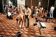 Atlantic City, NJ, April 24, 1981. Backstage at the Women's World Bodybuilding Championships.