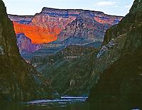 Light on Supai layer  Grand Canyon National Park, Arizona  Colorado River  Mile 97  July