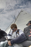 Training session for Oman Sail Sailing Team on M34 before the Spi Ouest in La Trinite sur Mer, France.