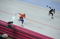 SPEED SKATING: HAMAR: Vikingskipet, 04-03-2017, ISU World Championship Allround, 500m Men, Jan Blokhuijsen (NED), Shota Nakamura (JPN),  ©photo Martin de Jong