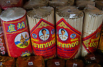 packs of incense from thailand for sale at religious item store