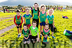Some of the An Ríocht AC relay runners at the County Championships in Cahersiveen on Sunday pictured front l-r; Daragh Cahill, Eanna Ryle, Meabh O'Connor, back l-r; Kieran Keane, Robyn Cahill, Anna Scanlon, Grace Cahill & Sarah Scanlon.