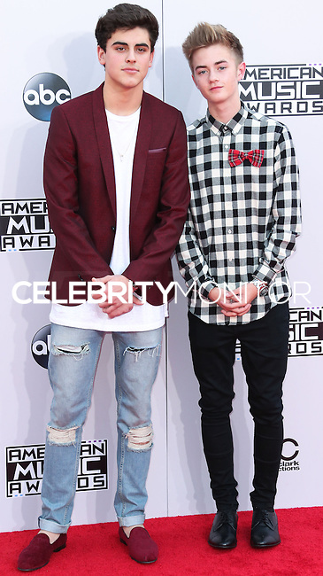 LOS ANGELES, CA, USA - NOVEMBER 23: Jack Gilinsky, Jack Johnson arrive at the 2014 American Music Awards held at Nokia Theatre L.A. Live on November 23, 2014 in Los Angeles, California, United States. (Photo by Xavier Collin/Celebrity Monitor)