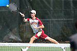 08 May 2015: Jesse Ruder-Hook. The University of Denver Pioneers played the Mississippi State University Bulldogs at Cone-Kenfield Tennis Center in Chapel Hill, North Carolina in a 2015 NCAA Division I Men's Tennis Tournament First Round match. MSU won the match 4-3.
