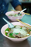 Si Yan Beef Balls Restaurant in an old neighborhood in Bangkok, Thailand
