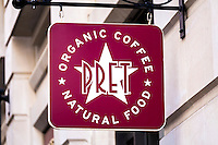 Pret Food and Coffee Shop Sign - Oct 2013.