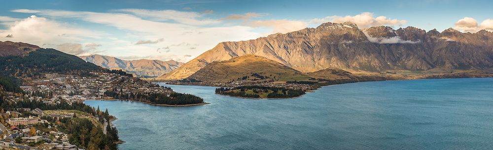 Evening View of Queenstown, The Remarkables & Lake Wakatipu