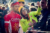 Michael van Staeyen (BEL/Cofidis) selfied at the start podium<br /> <br /> 101th Ronde Van Vlaanderen 2017 (1.UWT)<br /> 1day race: Antwerp &rsaquo; Oudenaarde - BEL (260km)