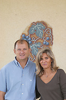Odile et Thierry Audier, owners. Chateau la Grace Dieu les Menuts, Saint Emilion, Bordeaux, France