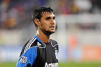 Chris Wondolowski (8) of the San Jose Earthquakes. The San Jose Earthquakes defeated the New York Red Bulls 3-1, (3-2) on aggregate during the 2nd leg of the Major League Soccer (MLS) Eastern Conference Semifinals at Red Bull Arena in Harrison, NJ, on November 04, 2010.