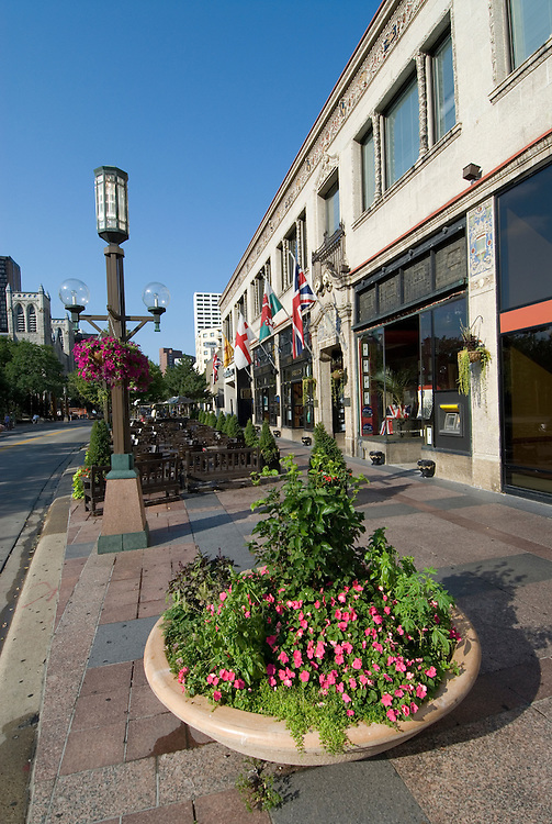 Minnesota, Twin Cities, Minneapolis-Saint Paul: Nicollet Mall, downtown Minneapolis..Photo mnqual236-74881..Photo copyright Lee Foster, www.fostertravel.com, 510-549-2202, lee@fostertravel.com.