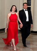 Nancy D. Hogan, Deputy Assistant to the President and Director of Presidential Personnel, and Peter T. Gage, arrive for the Official Dinner in honor of Prime Minister David Cameron of Great Britain and his wife, Samantha, at the White House in Washington, D.C. on Tuesday, March 14, 2012..Credit: Ron Sachs / CNP.(RESTRICTION: NO New York or New Jersey Newspapers or newspapers within a 75 mile radius of New York City)