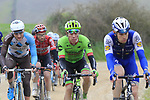 Riders including Rigoberto Uran (COL) Cannondale-Drapac climb gravel sector 8 Monte Santa Maria during the 2017 Strade Bianche running 175km from Siena to Siena, Tuscany, Italy 4th March 2017.<br /> Picture: Eoin Clarke | Newsfile<br /> <br /> <br /> All photos usage must carry mandatory copyright credit (&copy; Newsfile | Eoin Clarke)