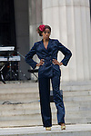 """Model wearing TBA Clothing by William Fleet at """"A Great Day In Harlem"""" Urban Fashion Fusion Showcase, NY 7/25/10"""