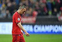 FUSSBALL CHAMPIONS LEAGUE  SAISON 2015/2016 VIERTELFINALE HINSPIEL FC Bayern Muenchen - Benfica Lissabon         05.04.2016 Franck Ribery (FC Bayern Muenchen) nach dem Abpfiff