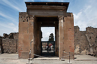 Gate to the House of the Faun, 2nd century BC, Pompeii, the largest (3,000 square meters) and one of the most magnificent houses in Pompeii
