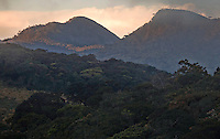 "Horton Plains National Park, ""Maha-Eliya"" in Sinhala, is a national park in the highlands of Sri Lanka. The left peak in the picture is Kirigalpotha (2395 m) the second highest mountain in Sri Lanka....."
