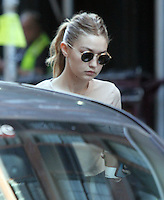 NEW YORK, NY- JULY 26: Gigi Hadid seen on set while shooting a Commercial in New York City on July 26, 2016. Credit: RWMediaPunch
