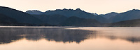 Dawn over Lake Kaniere near Hokitika, West Coast, South Westland, New Zealand, NZ