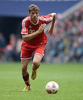 Fussball 1. Bundesliga   Saison  2012/2013   34. Spieltag   FC Bayern Muenchen  - FC Augsburg     10.05.2013 Thomas Mueller (FC Bayern Muenchen) am Ball