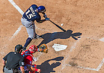 23 August 2015: Milwaukee Brewers first baseman  Jason Rogers pinch hits against the Washington Nationals at Nationals Park in Washington, DC. The Nationals defeated the Brewers 9-5 in the third game of their 3-game weekend series. Mandatory Credit: Ed Wolfstein Photo *** RAW (NEF) Image File Available ***