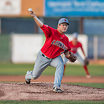 24 August 2016: Lowell Spinners pitcher Dakota Smith on the mound against the Vermont Lake Monsters at Centennial Field in Burlington, Vermont. The Lake Monsters defeated the Spinners 5-3 in NY Penn League action. Mandatory Credit: Ed Wolfstein Photo *** RAW (NEF) Image File Available ***
