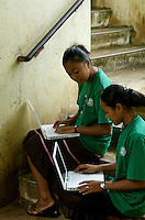 IN THE PUBLIC HIGH SCHOOL CHUUK, MICRONESIA, PACIFIC STUDENTS USING DONATED iBOOKS,