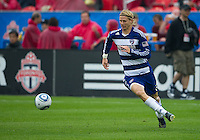 July 24, 2010  FC Dallas defender/midfielder Brek Shea #20 in action during a game between FC Dallas and Toronto FC at BMO Field in Toronto..Final score was 1-1.