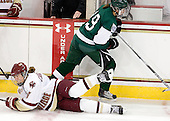 Alex Carpenter (BC - 5), Reagan Fischer (Dartmouth - 19) - The Boston College Eagles defeated the Dartmouth College Big Green 4-3 on Sunday, October 23, 2011, at Kelley Rink in Conte Forum in Chestnut Hill, Massachusetts.