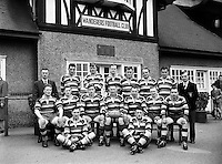 Football - Wanderers Team  at Landsdowne Rd - Special for Wanderers.18/03/1957