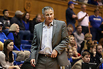 17 January 2016: Boston College head coach Erik Johnson. The Duke University Blue Devils hosted the Boston College Eagles at Cameron Indoor Stadium in Durham, North Carolina in a 2015-16 NCAA Division I Women's Basketball game. Duke won the game 71-51.