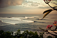 The Balian surf break just after sunrise.