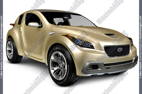 HCD10 Hyundai Hellion 2009 futuristic ergonomic environment friendly concept car Isolated with clipping path on white background